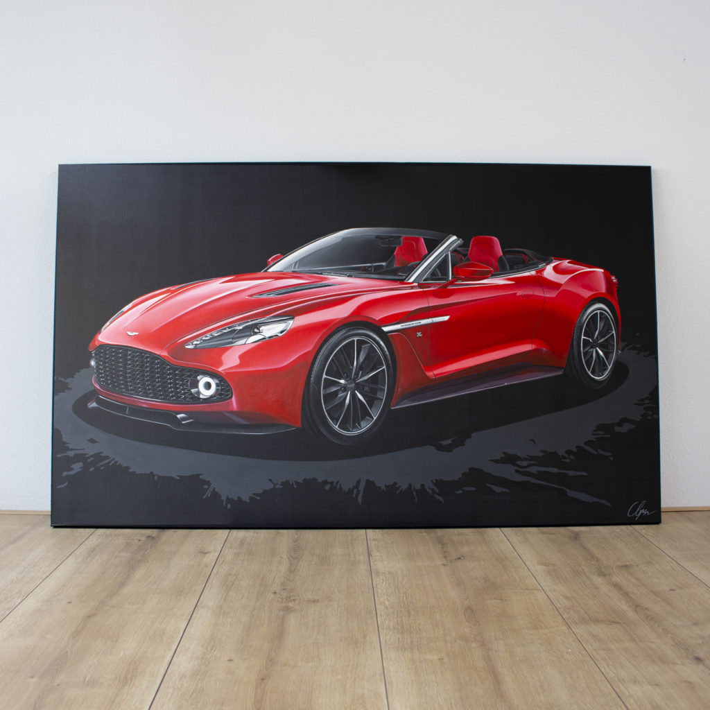 Aston Martin Vanquish Zagato Volante 2018 Painting By Brigitt Reuver